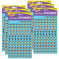 Trend Enterprises T-46068-6 Supershapes Stickers Perky - Pack of 6