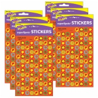 Fall Leaves superSpots® Stickers, 800 Per Pack, 6 Packs