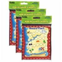 Treasure Hunt Mini Reward Charts with Stickers, 36 Charts Per Pack, 3 Packs - 1