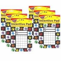 Trend Enterprises T-73060-6 Paw Prints Incentive Pad - 6 Each