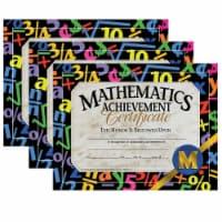 Mathematics Achievement Certificate, 30 Per Pack, 3 Packs - 1