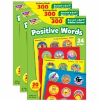 Trend Enterprises Positive Words Stinky Stickers - 3 Pack