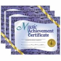 Music Achievement Certificate, 8.5  x 11 , 30 Per Pack, 3 Packs - 1