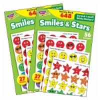 Trend Enterprises T-83905-2 Stinky Stickers Smiles Stars Jumbo Acid-Free Variety Pack - 648 P