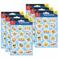 Emoji Fun Reward Stickers, 75 Per Pack, 6 Packs - 1
