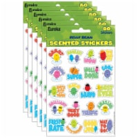 Jelly Beans Scented Stickers, 80 Per Pack, 6 Packs