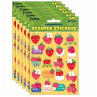 Eureka EU-650917-6 Strawberry Scented Stickers - Pack of 6