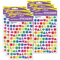 Trend Enterprises T-46040-6 Sticker Basic Shapes Supershapes - Pack of 6