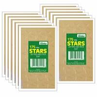 """Presto-Stick Foil Star Stickers, 3/4"""", Gold, 175 Per Pack, 12 Packs"""