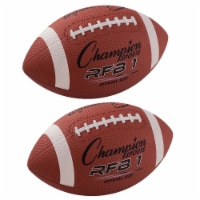 Official Size Rubber Football, Pack of 2 - 1