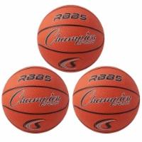 Champion Sports CHSRBB5-3 7 in. Dia. Mini Basketball, Orange - 3 Each
