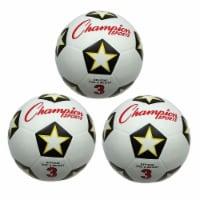 Champion Sports CHSSRB3-3 Champion Soccer Ball - No 3 - 3 Each - 1