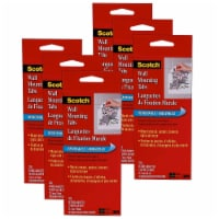 Double Sided Removable Adhesive Wall Mounting Tab, 1/2  x 3/4 , 48 Tabs/Pack, 6 Packs - 1