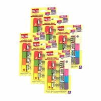Binder-Tabs with Small Clips, Spring Collection, 8 Per Pack, 6 Packs - 1