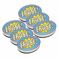 Magnetic Whiteboard Eraser, Superhero Erase!, Pack of 6 - 1