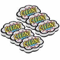 Magnetic Whiteboard Eraser, Superhero Clean!, Pack of 6 - 1
