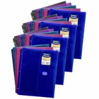 Binder Pocket, Side Loading, Assorted, Pack of 18 - 1