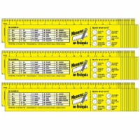 French Reference Rulers, 32 Per Set, 3 Sets - 1