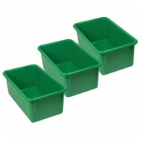 Stowaway® Tray no Lid, Green, Pack of 3 - 1