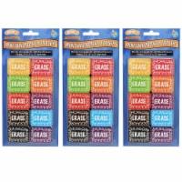 Non-Magnetic Mini Whiteboard Erasers, Chalk Loop, 10 Per Pack, 3 Packs - 1