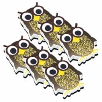 Magnetic Whiteboard Eraser, Wise Owl, Pack of 6 - 1