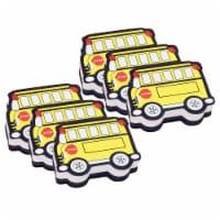 Magnetic Whiteboard Eraser, School Bus, Pack of 6 - 1