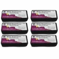 Whiteboard Eraser, Felt/Foam, Gray and Black, Pack of 6 - 1
