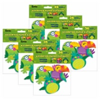 You Can Toucan Birds Assorted Paper Cut Outs, 36 Per Pack, 6 Packs - 1