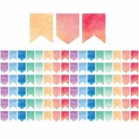 Watercolor Pennants Die-Cut Border Trim, 35 Feet Per Pack, 6 Packs - 1