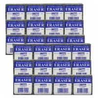 Student Eraser, 2  Width, 2  Length, 12 Per Pack, 2 Packs - 1
