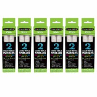 Chalk Brights White Liquid Chalk Markers, 2 Per Pack, 6 Packs - 1