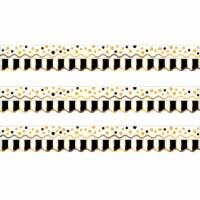 Double-Sided Border, Scalloped Edge, Gold Bars, 39 Feet Per Pack, 3 Packs - 1
