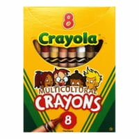 Crayola BIN008W-24 Multicultural Crayons Reg - 8 Per Pack - Box of 24 - 1