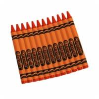 Crayola BIN520836036-12 12 Count Bulk Crayons, Orange - Box of 12