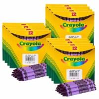 Crayola BIN520836040-12 12 Count Bulk Crayons, Violet - Box of 12