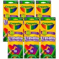 Erasable Colored Pencils, 10 Per Box, 6 Boxes - 1