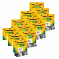 Bulk Crayons, Regular Size, Black, 12 Per Box, 12 Boxes - 1