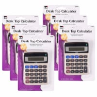 Desktop Calculator, Battery and Solar Powered with Tilted 8 Digit Display, Pack of 6 - 1