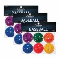 Champion Sports CHSPLBBSET-3 Plastic Balls Baseball - 6 Per Set - Set of 3