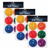 Champion Sports CHSPLSBSET-3 Plastic Balls Softball - 6 Per Set - Set of 3 - 1