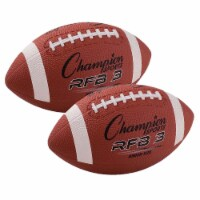 Rubber Football, Junior Size, Pack of 2 - 1