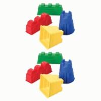 Sand Castle Mold Set, 4 Pieces Per Set, 2 Sets
