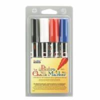 Broad Point Chalk Marker Broad Tip Set 4C, Basic Colors, 4 Per Pack, 2 Packs - 1