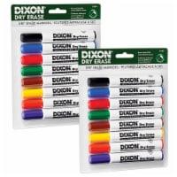 Dry Erase Markers Wedge Tip, 8 Colors Per Set, 2 Sets - 1