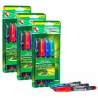RediMark+® Chisel Tip Permanent Markers, 4 Colors Per Set, 3 Sets - 1