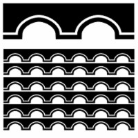 Simply Stylish Black and White Awning Scalloped Border, 39 Feet Per Pack, 6 Packs - 1