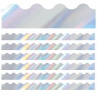 Sparkle + Shine Holographic Silver Scalloped Border, 39 Feet Per Pack, 6 Packs - 1
