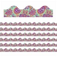 Positively Paisley Mint Paisley Deco Trim®, 37 Feet Per Pack, 6 Packs - 1