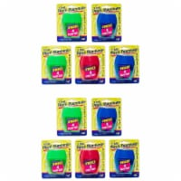3 Hole Pencil Sharpener w/catcher, Assorted Colors, 12 per Pack, 2 Packs - 1