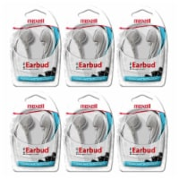 Budget Stereo Earbuds, White, Pack of 6 - 1